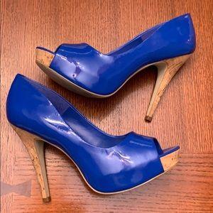 Jessica Simpson Peep Toe Heels- Royal Blue- Size 8
